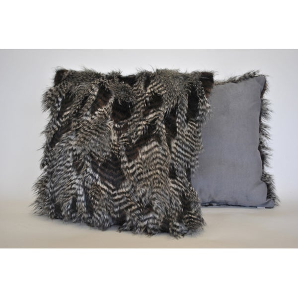 Sherry Kline Porcupine Brown Faux Fur Decorative Pillow (Set of 2)