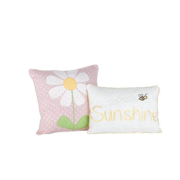 Big Believers Lazy Daisy Decorative Throw Pillows (Set of 2)
