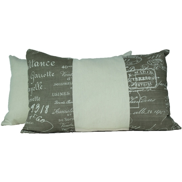 Shop Document Linen Throw Pillows Set Of 40 Free Shipping Today Delectable Overstock Decorative Pillows