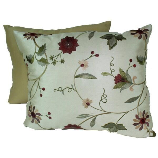 Paradise Garden Ivory Pillows (Set of 2)