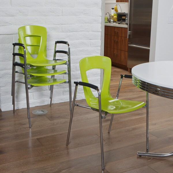 Kennedy Green Modern Chair (Set of 4) by Christopher Knight Home
