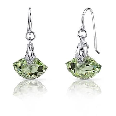 Oravo Sterling Silver Gemstone Shell Dangle Earrings