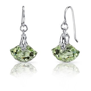 Oravo Sterling Silver Gemstone Shell Dangle Earrings