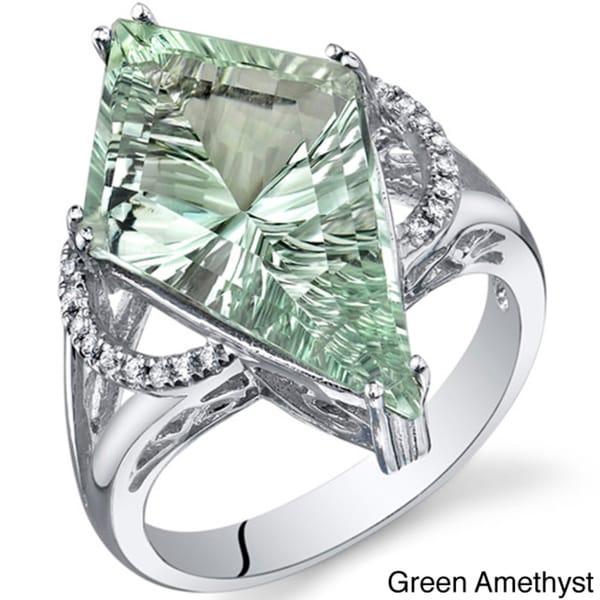 Sterling Silver Kite Shape Gemstone Ring Free Shipping