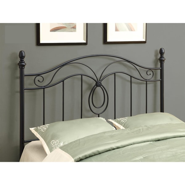 Black Metal Queen/Full-Size Versatile Headboard
