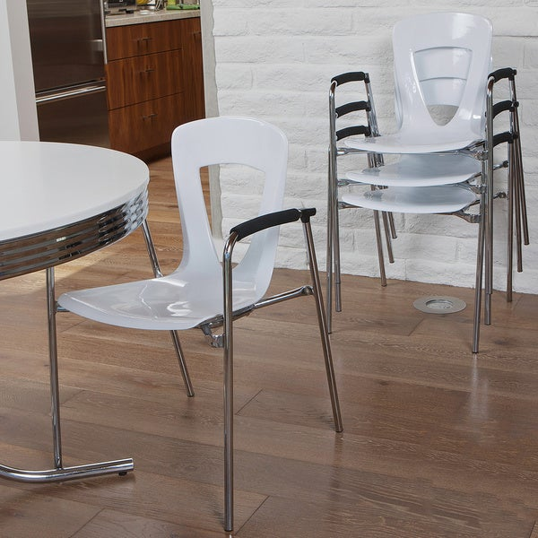Kennedy White Modern Chair (Set of 4) by Christopher Knight Home