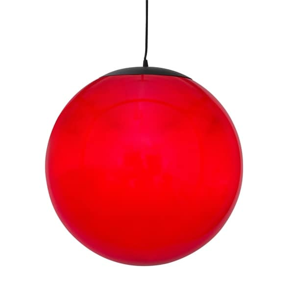 Alternating Current Ballistic 1-light Red 14-inch Ball Pendant