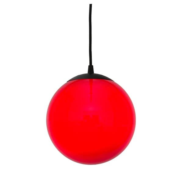 Alternating Current Ballistic 1-light Red 12-inch Ball Pendant