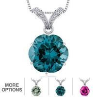 Shop oravo sterling silver spherical gemstone pendant necklace on oravo sterling silver octagon gemstone pendant necklace aloadofball Choice Image