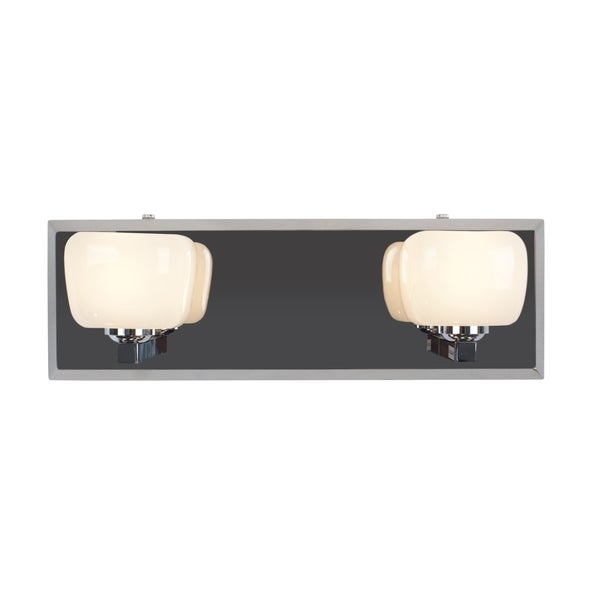 Alternating Current Oplatine 2-light Stainless Steel Vanity Fixture