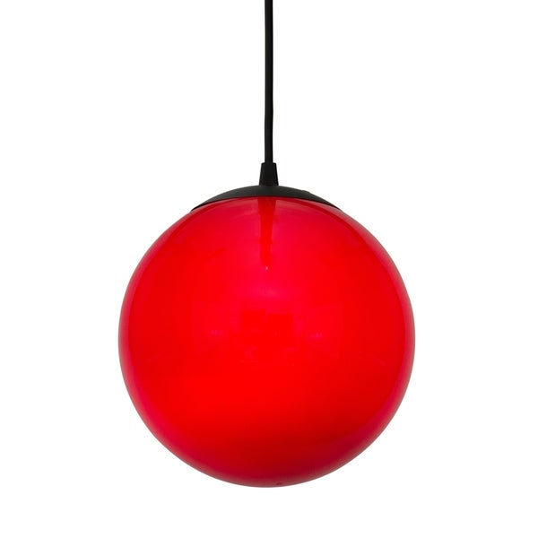 Alternating Current Ballistic 1-light Red 10-inch Ball Pendant