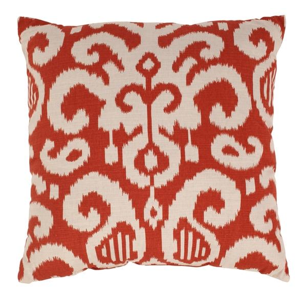 Fergano 23-inch Floor Pillow in Flame