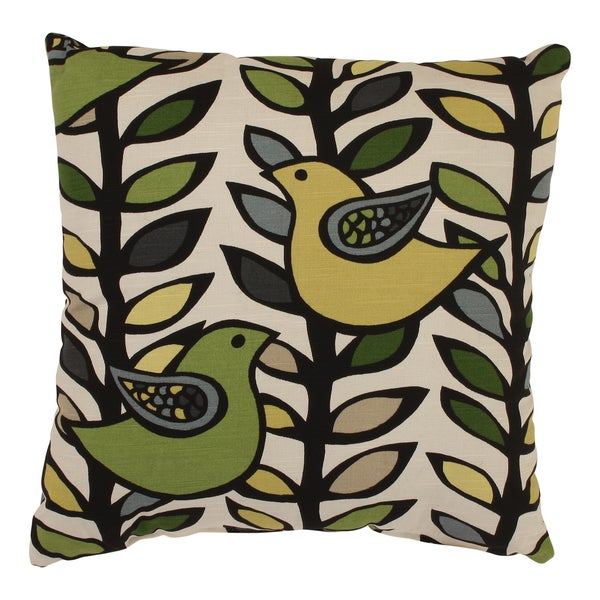 Trixie 18-inch Throw Pillow in Hemlock