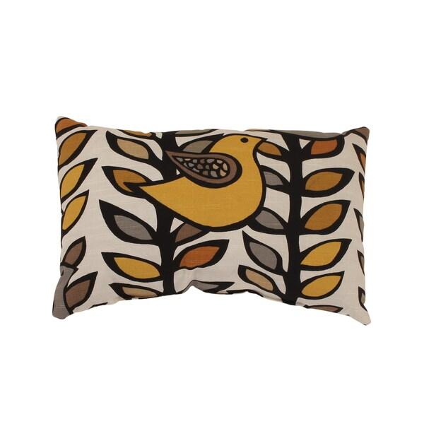 'Trixie' Gold/ Black Rectangular Throw Pillow