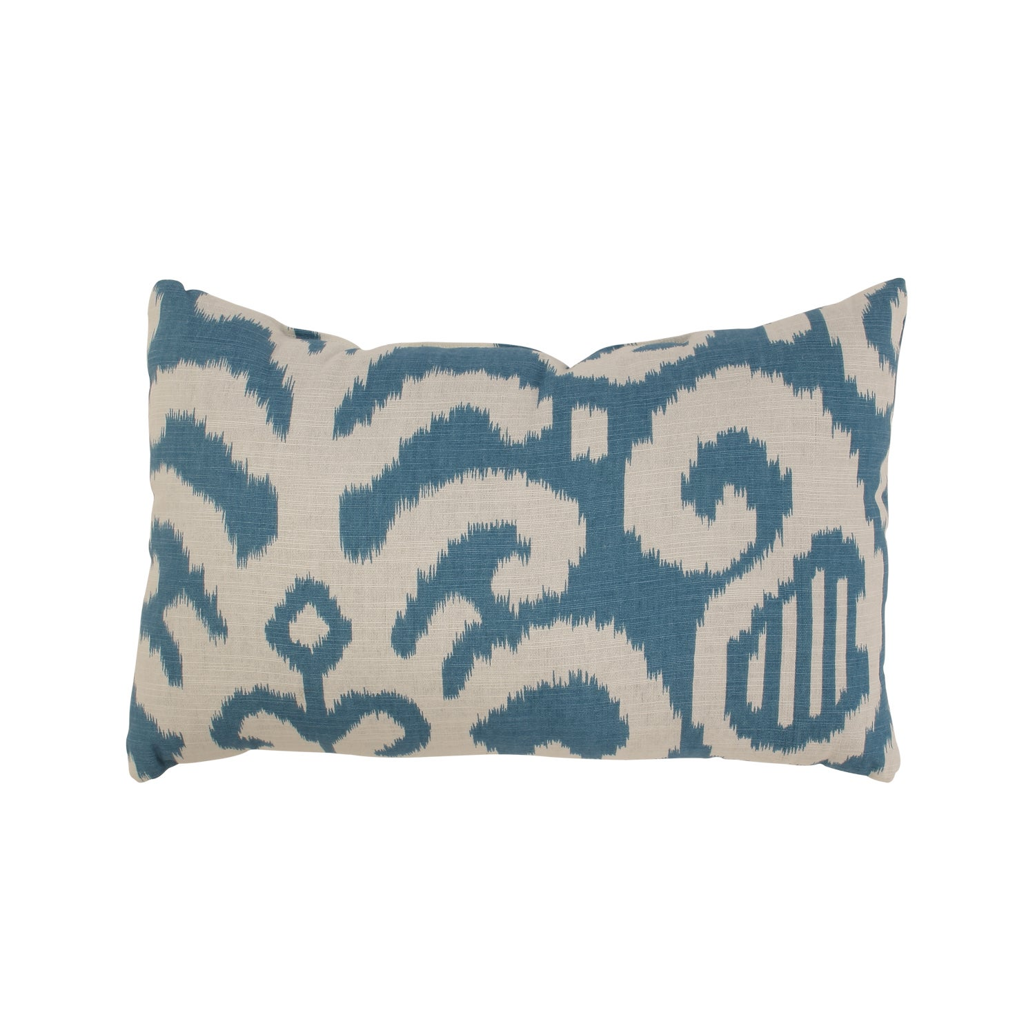 Fergano Rectangular Throw Pillow in Aqua
