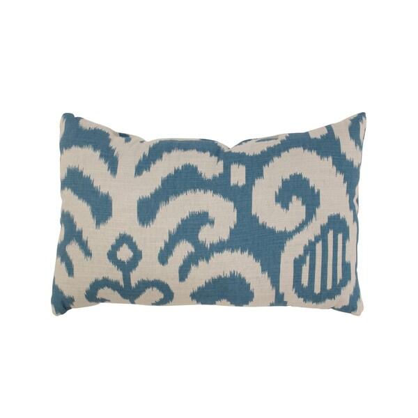 Fergano Rectangular Throw Pillow in Aqua