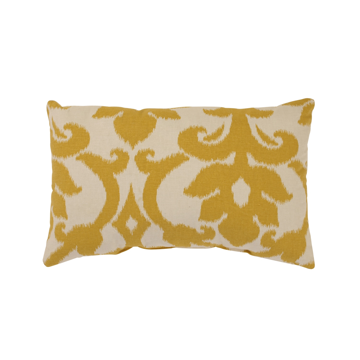 Pillow Perfect Grey Greenish Yellow Damask Rectangular Throw