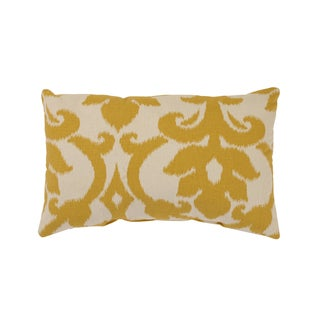 'Azzure' Gold Rectangular Throw Pillow