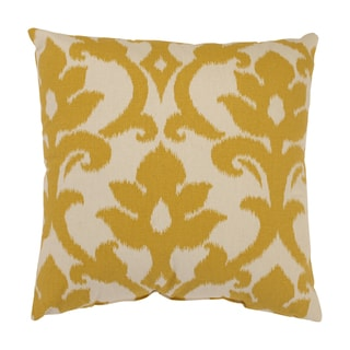 'Azzure' Gold Square Throw Pillow