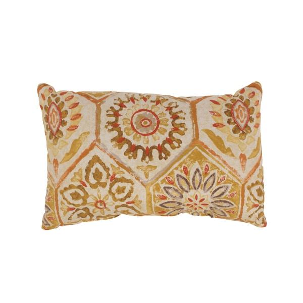 Summer Breeze Rectangular Throw Pillow in Gold