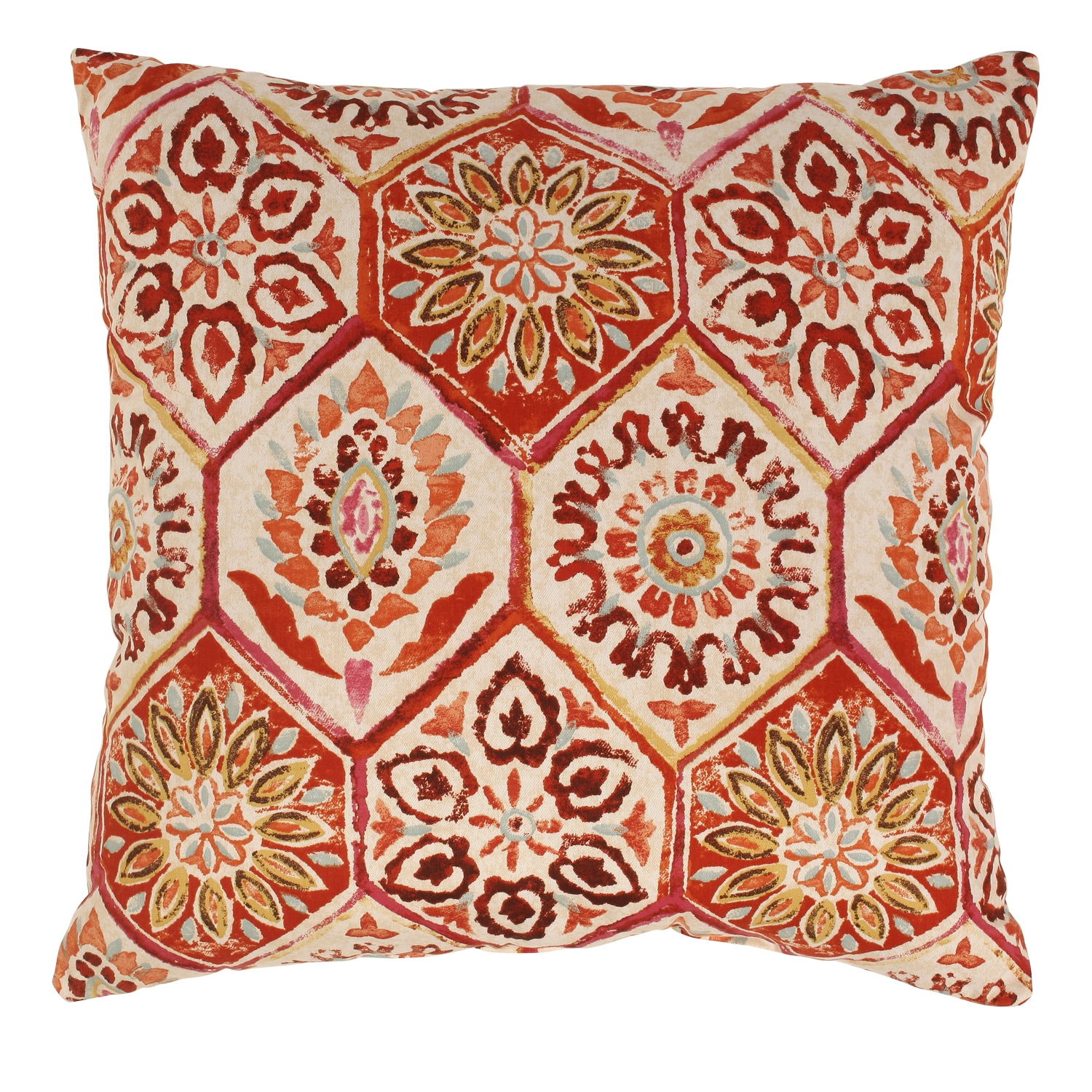 Summer Breeze 24.5-inch Floor Pillow in Crimson