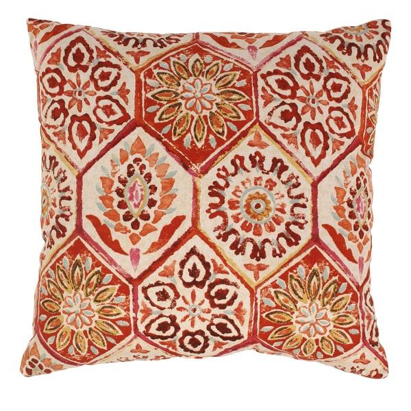 Summer Breeze 24.5-inch Floor Pillow in Crimson