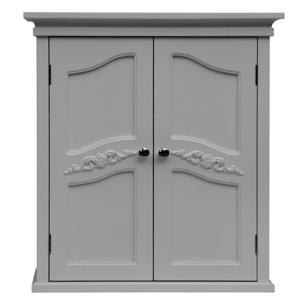 Yvette White 2-door Wall Cabinet by Essential Home Furnishings