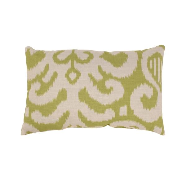 Pillow Perfect Fergano Rectangular Throw Pillow in Lime