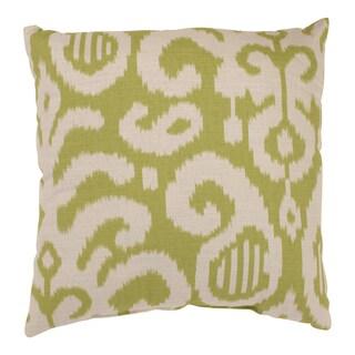 'Fergano' Lime Square Throw Pillow