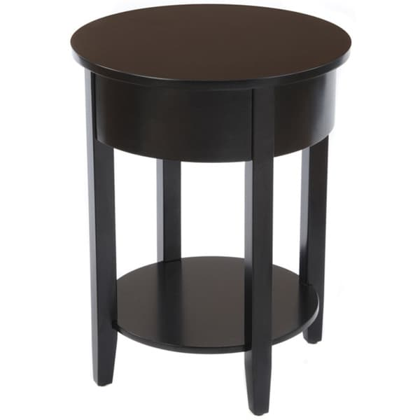 Bianco Collection Black Round Side Table