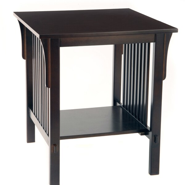 Bianco Collection Mission Espresso End Table