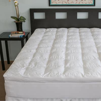 Candice Olson Luxury Fiber Bed Topper 300 Thread Count - White