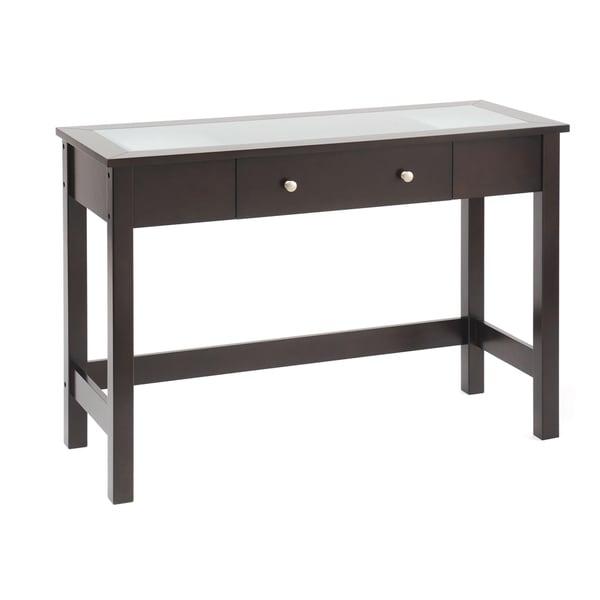 Bianco Collection Espresso Glass Top Sofa/ Console Table