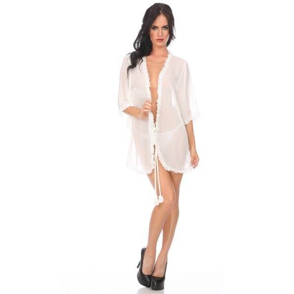 Popsi Lingerie Chiffon and Lace Robe