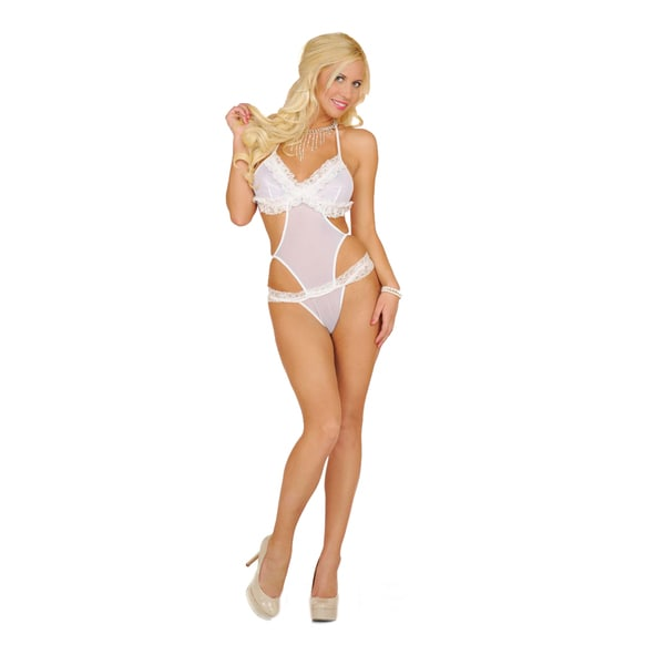 Popsi Lingerie Mesh and Lace Teddy