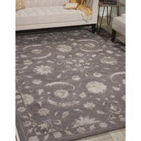 "Nourison Hand-tufted Symphony Traditional Taupe Rug (3'6 x 5'6) - 3'6"" x 5'6"""