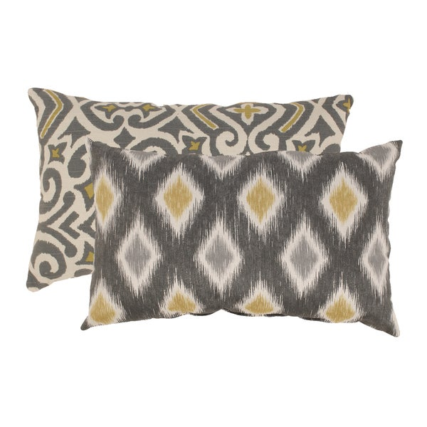 Pillow Perfect 'Damask' and 'Rodrigo' Rectangular Throw Pillows (Set of 2)