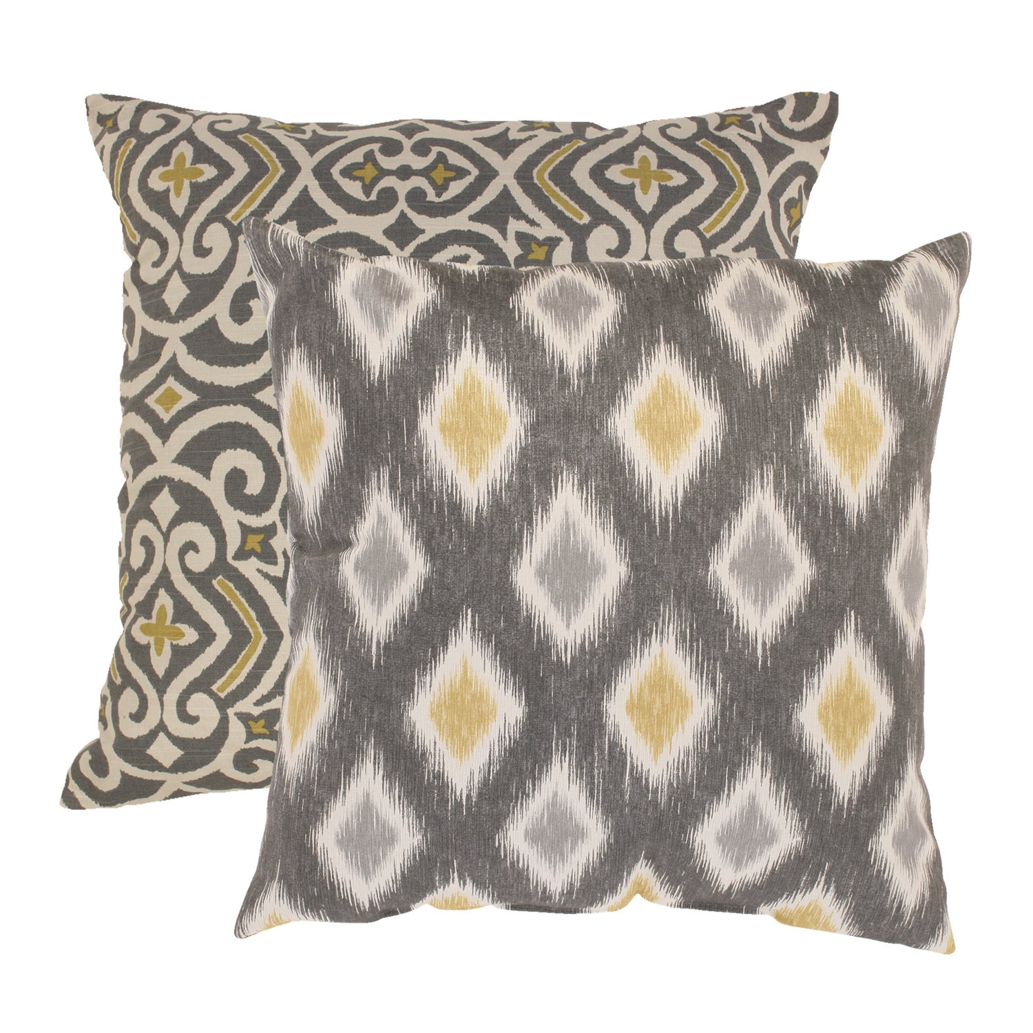 Shop pillow perfect 39 damask 39 and 39 rodrigo 39 throw pillows set of 2 free shipping today - What is a throw pillow ...