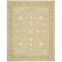 "Nourison Hand-tufted Symphony Bordered Gold Oak Rug (3'6 x 5'6) - 3'6"" x 5'6"""