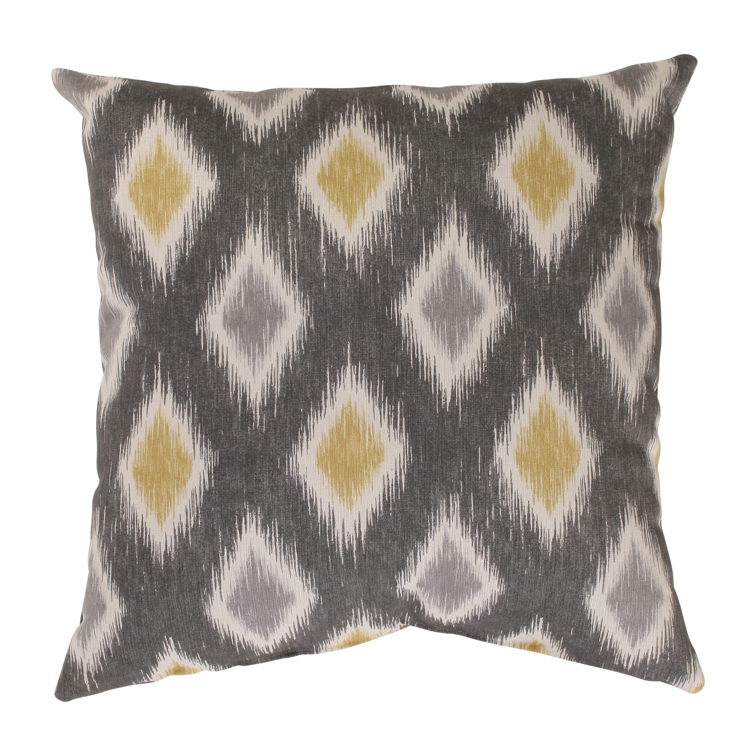 Rodrigo Graphite/Yellow 16.5-Inch Throw Pillow