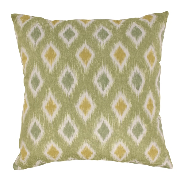 Rodrigo 23-Inch Lime/Off-White Throw Floor Pillow