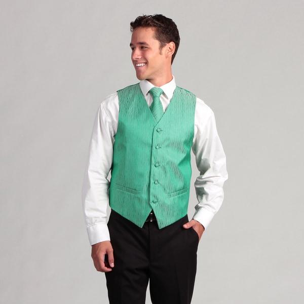Ferrecci Men's 4-piece Green Corrugated Vest