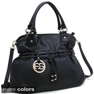 Anais Gvani Drawstring Shoulder Bag with Logo Charm (2 options available)