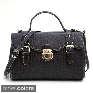 Anais Gvani Croco Embossed Mini Satchel Bag