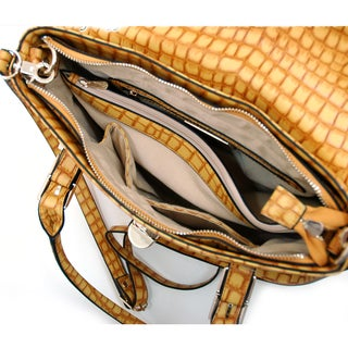 Anais Gvani On-the-go Croco Faux-leather Embossed Crossbody Bag