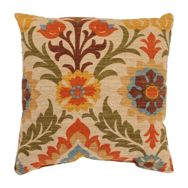 Santa Maria 16.5-inch Adobe Throw Pillow