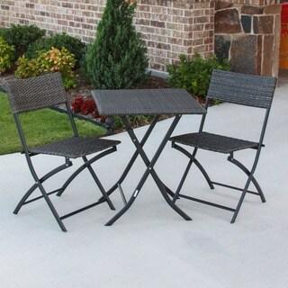 International Caravan Castillo 3-piece Resin/ Steel Folding Bistro Set