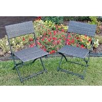 International Caravan Castillo Resin/ Steel Folding Chairs (Set of 2)