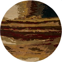 Monet Sunset Multi Hand-Tufted Wool Rug (8' x 8' Round)