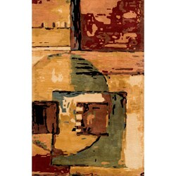 """Monet Cityscape Multi Hand-Tufted Wool Rug (3'6"""" x 5'6"""")"""